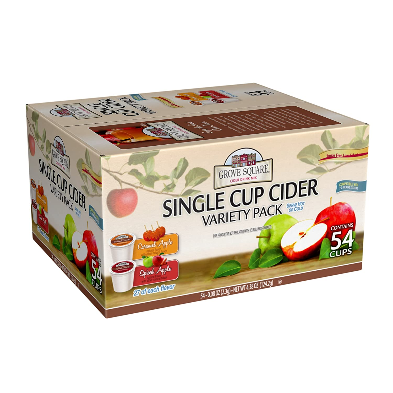 Grove Square Cider Single Serve Cups Variety Pack, 54 Count (Pack of 1)
