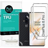 Ibywind Schermbeschermers voor OnePlus 8 Pro,[Pack van 2],met [Cameralens beschermfolie][Back Carbon Fiber beschermfolie…