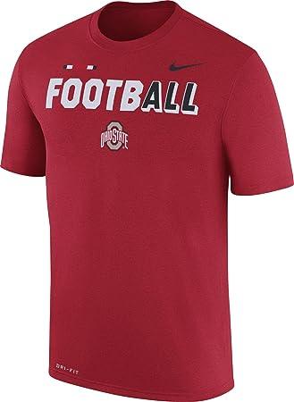 Nike Hombres de Ohio State Buckeyes Scarlet diseño de fútbol Legend Camiseta