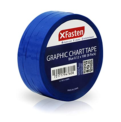 deb32af9015 Image Unavailable. Image not available for. Color  XFasten Thin Graphic  Chart Line Tape (Blue)