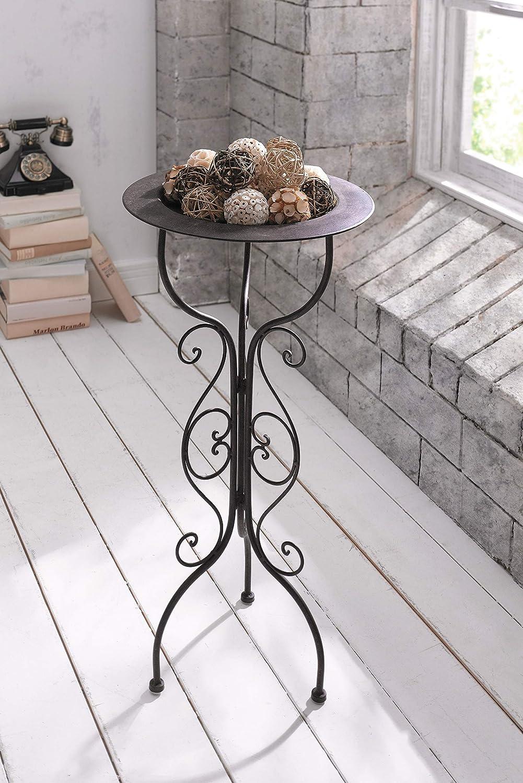 Metall St/änderCountry-Style schwarz mit abnehmbarem Tablett