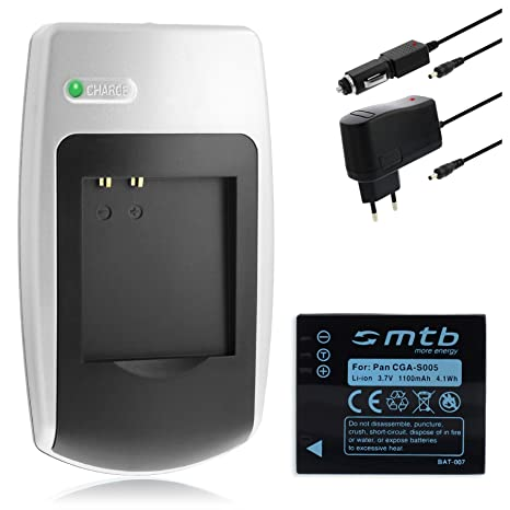 Batería + Cargador CGA-S005 para Panasonic Lumix DMC-FS2 FX01 FX07 FX3 FX8 FX9 FX10 FX12 FX50 FX100 FX150 FX180 LX1 LX2 LX3 LX9