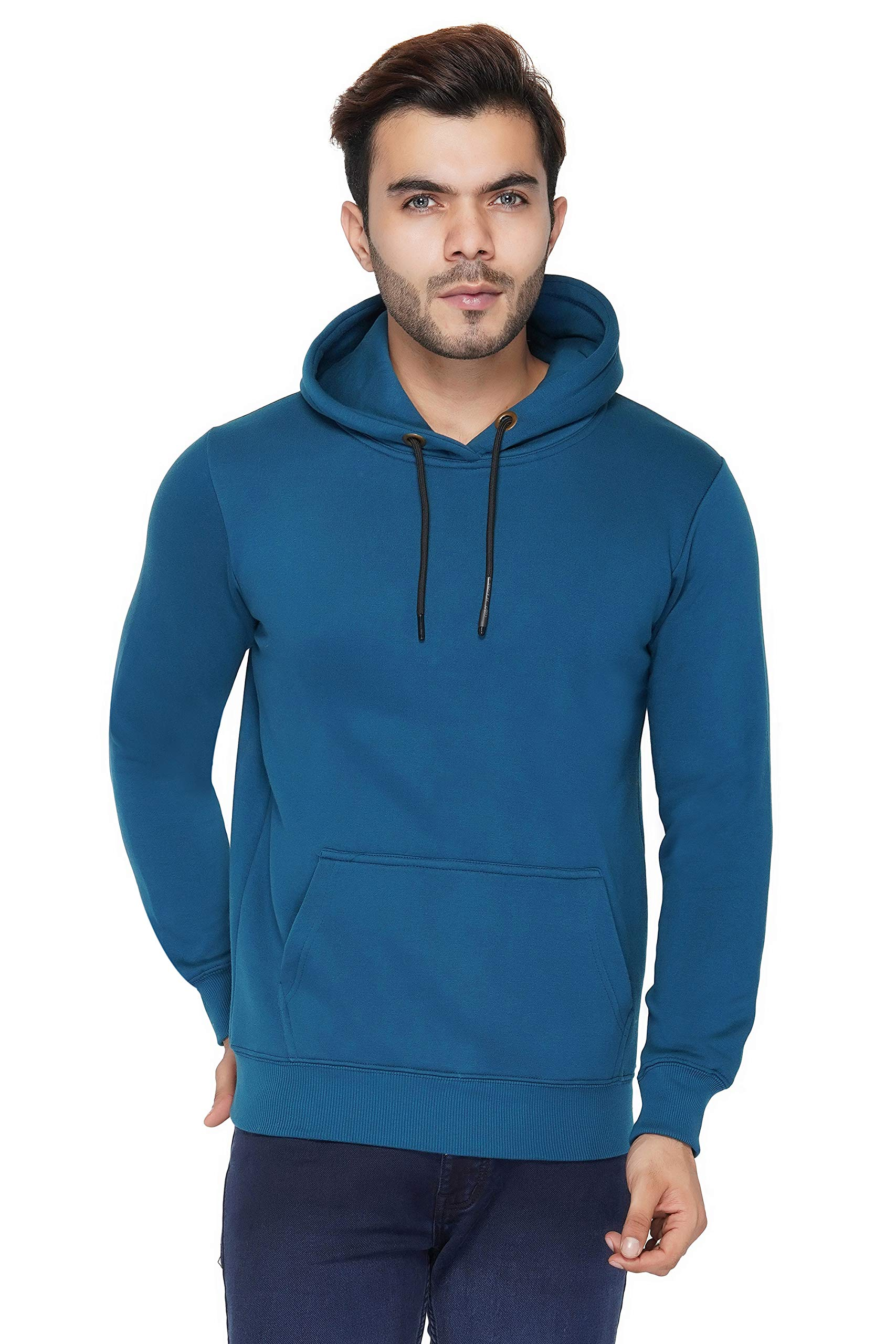 Urban Age Clothing Co. Men's Cotton Blend Fleece Plain Hoodie with Pouch Pockets Sweatshirt for Winters Temperature 0 Degrees to 25 Degrees... (Sailor Blue, Small) (B07XYGV6LC) Amazon Price History, Amazon Price Tracker