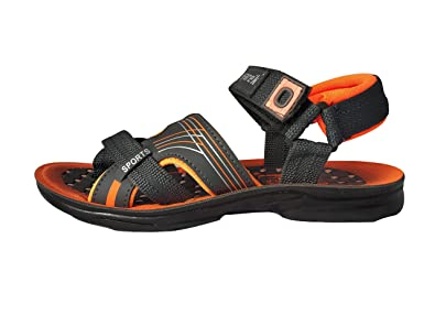71071bec9a67 MYE Men s Sfarek Sports Orange Slingback Synthetic Sandals Floaters for Men  with Velcro Closure