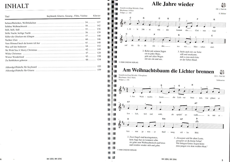 Super Christmas Hits con 2 Karaoke de CD y Bunter herzförmiger ...