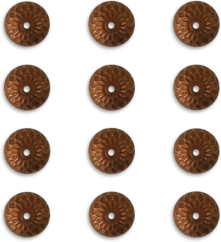 4 Vintaj Artisan Copper Acorn Bead Caps 12.5mm