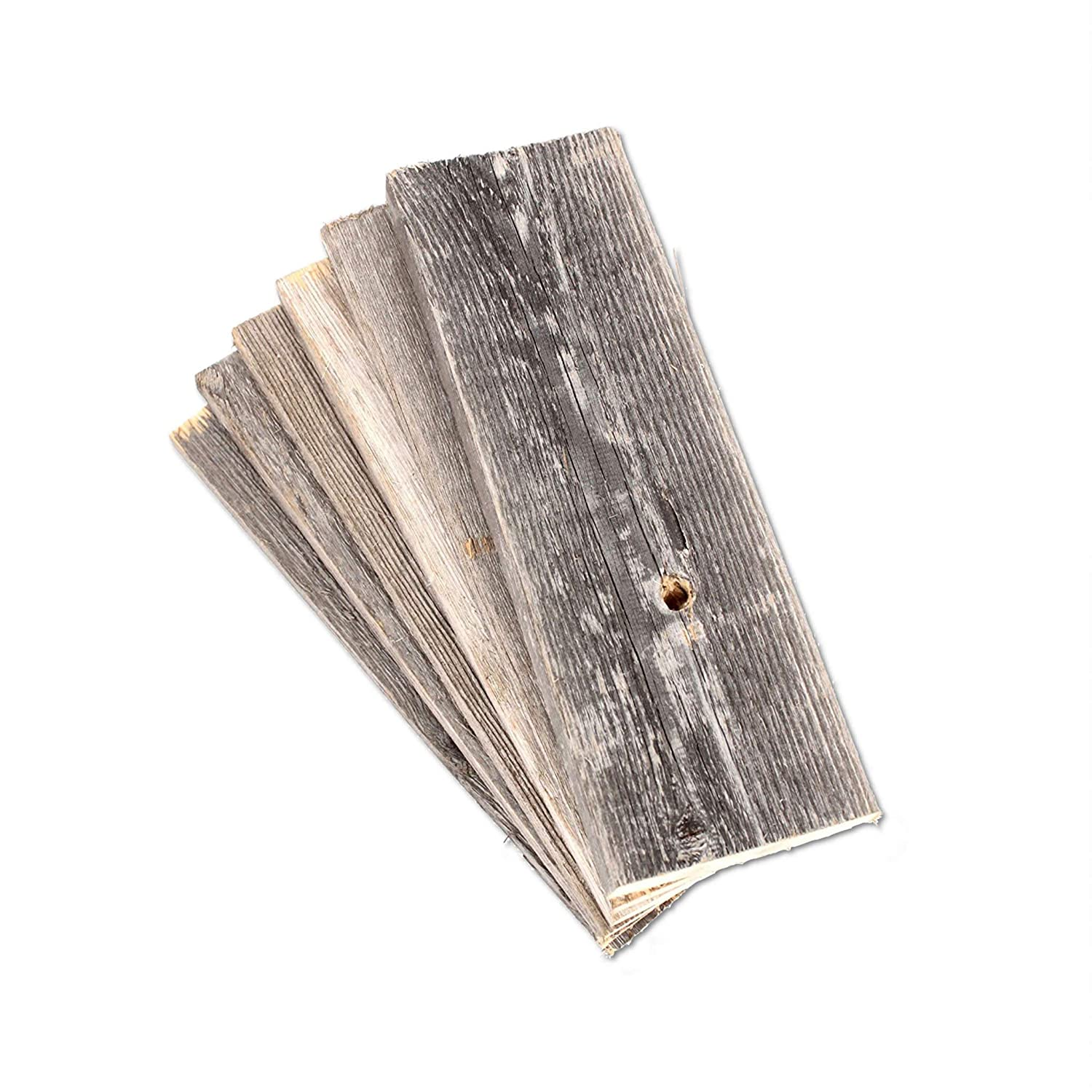Rustic Farmhouse Reclaimed Barn Wood Bundle | 36 inch | Wood Plank | Wall Panels | Remodeling | Weathered | DIY | Repurposed | Decoration | Shiplap | Pallet Planks | Pack of 6