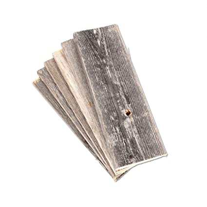 Rustic Farmhouse Reclaimed Barn Wood Bundle, Pack of 6 (12 in) Planks
