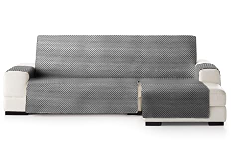 Enjoyable Jm Textil Funda Cubre Sofa Chaise Longue Elena Protector Para Sofas Acolchado Brazo Derecho Tamano 290Cm Color Gris 06 Visto De Frente Pabps2019 Chair Design Images Pabps2019Com
