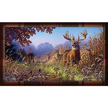 Deer Scene Door Mat