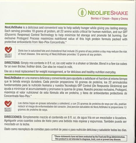 Amazon.com: Neolifeshake Berries N Cream Box of 15 Packets ...
