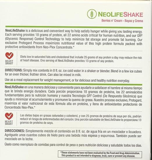 Amazon.com: Neolifeshake Berries N Cream Box of 15 Packets: Health & Personal Care