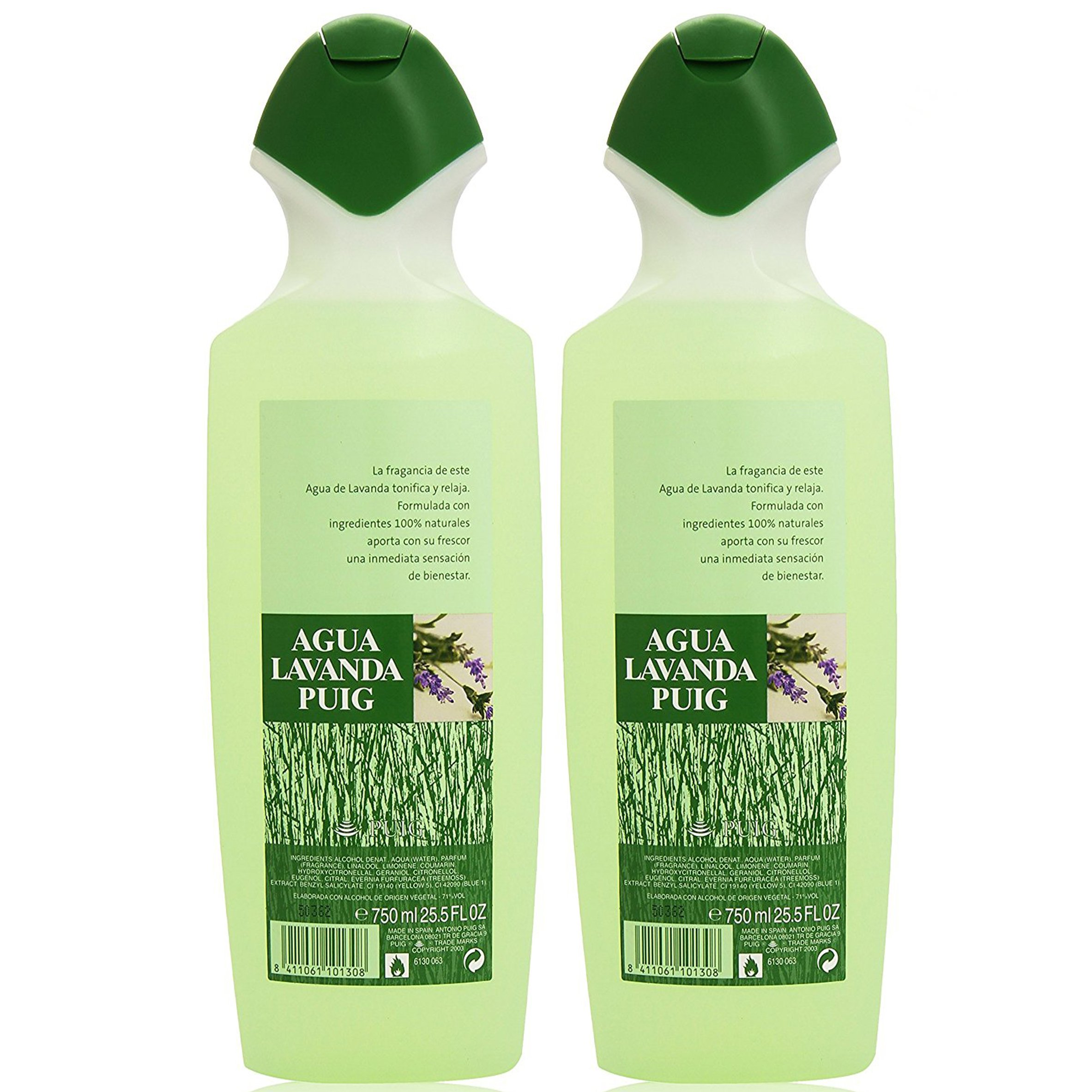 2 Agua Lavanda Cologne 750ml/25.5oz.