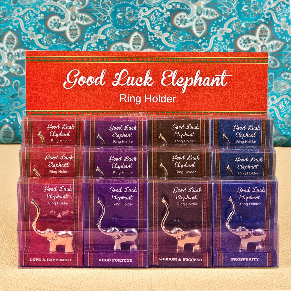 60 Silver and Gold Lucky Elephant Ring Holders