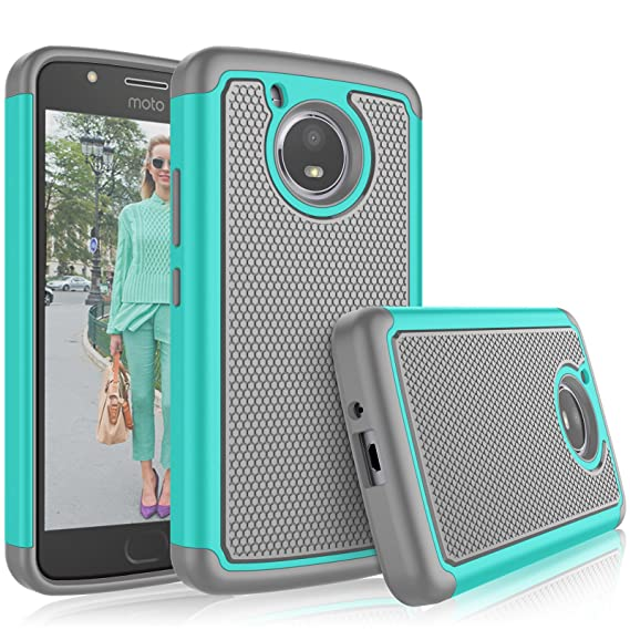 low priced 6ad6d 394bf Tekcoo for Moto E4 Case, for 2017 Motorola Moto E 4th Generation Cute Case,  [Tmajor] Shock Absorbing [Turqoise] Rubber Silicone & Plastic Scratch ...