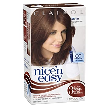 clairol nice n easy hair color 111 natural medium auburn pack of 3 - Clairol Nice And Easy Colors