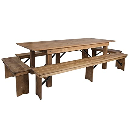 Amazon flash furniture hercules series 8 x 40 antique flash furniture hercules series 8 x 40 antique rustic folding farm table and watchthetrailerfo
