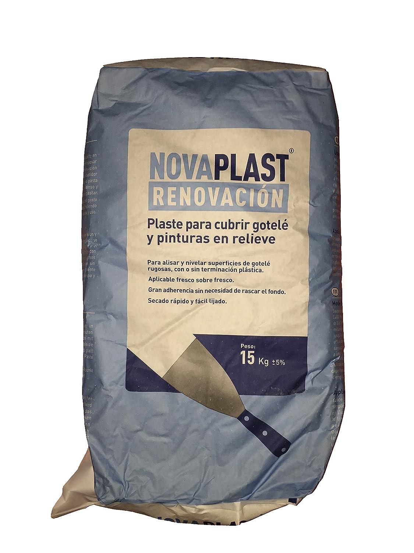 Plaste Masilla Renovación Novaplast ( Plaste para cubrir gotelé y pinturas en relieve ) (15 KG) Envío GRATIS 24 h.