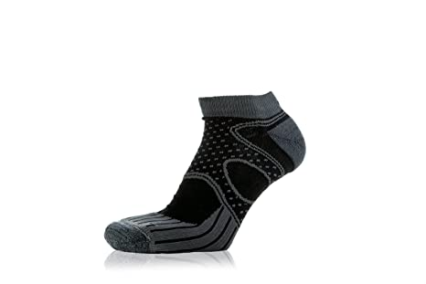 EIGHT SOX Eightsox Trail Micro Calcetines Running, Unisex adulto, Gris/Negro, 35