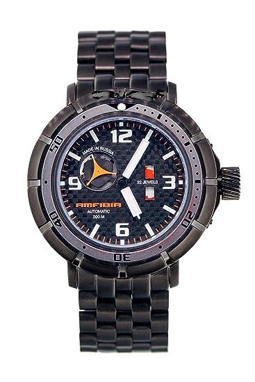 Vostok reloj automático Amphibia turbina 2435.02/236603 a Militar ruso: Amazon.es: Relojes