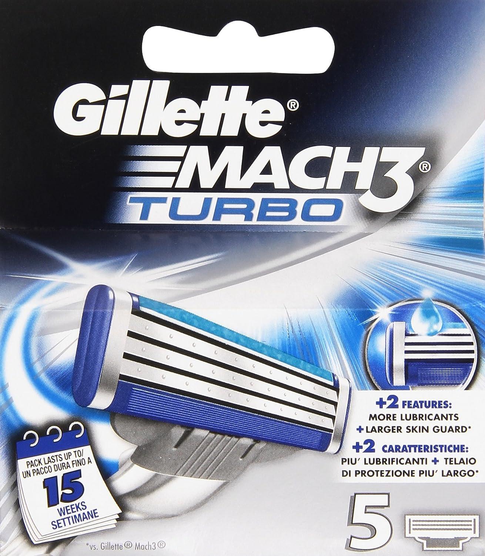 Gillette Mach 3 - Cartuchos de repuesto para cuchillas de afeitar (12 unidades) Procter & Gamble 3447109
