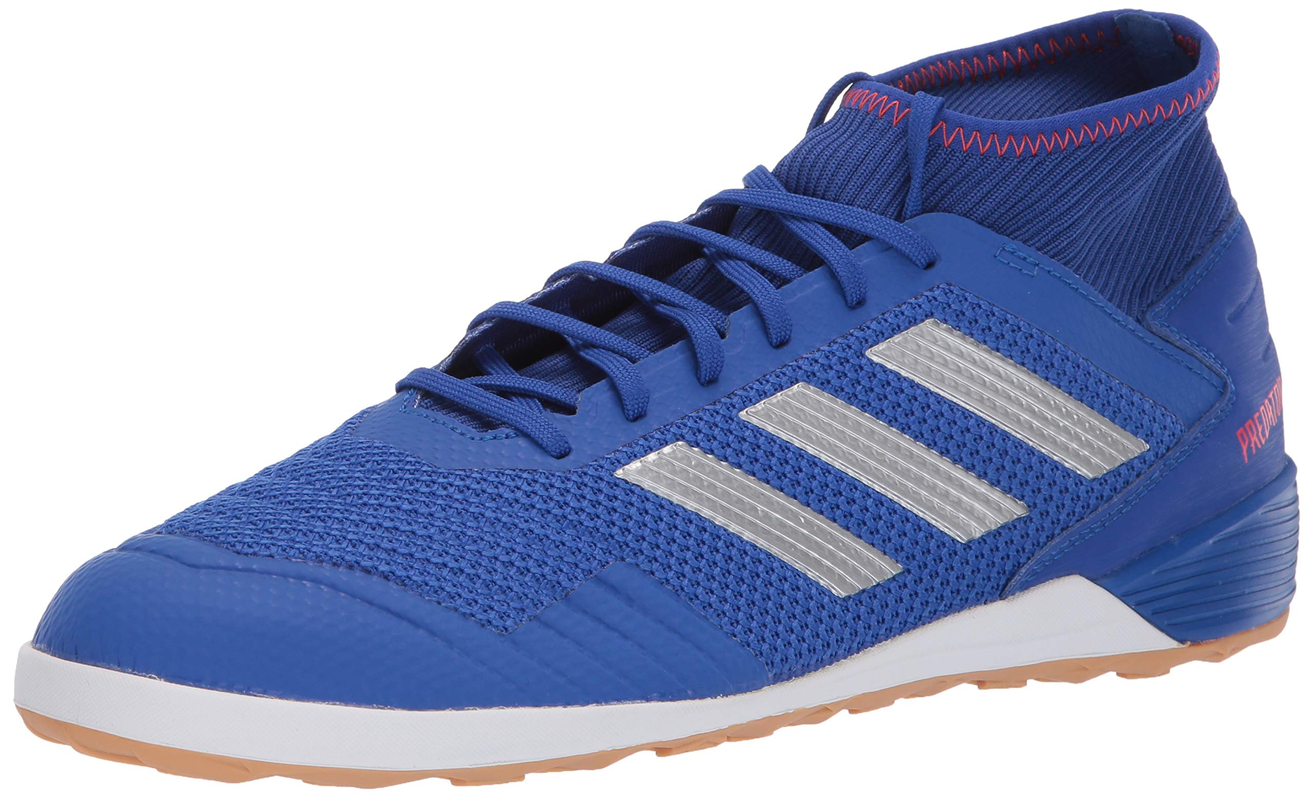 adidas Men's Predator 19.3 Indoor, Bold Blue/Silver Metallic/Active red 7 M US