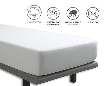 Tural - Protector de colchón y Sábana Bajera 2 en 1 Impermeable y Transpirable. Tejido 100% Algodón. Talla 80x200cm: Amazon.es: Hogar