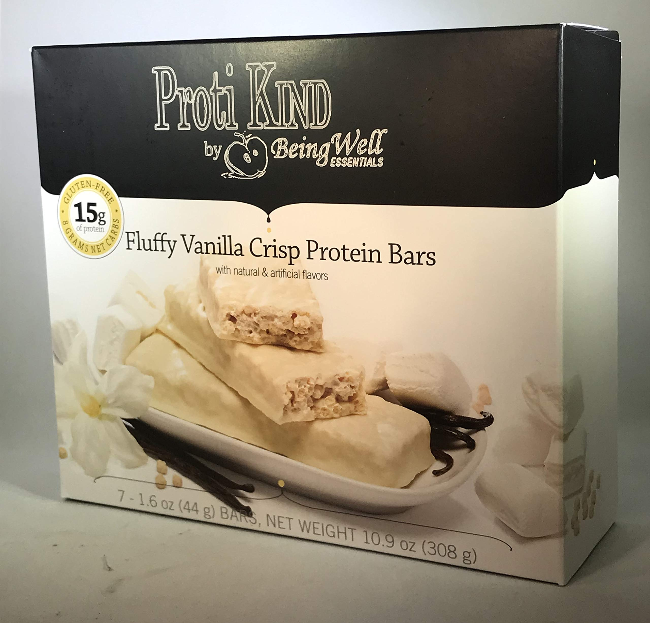 Proti Kind Very Low Carb Fluffy Vanilla VLC Bars - Full CASE - 84 Bars by Being Well Essentials (Image #4)