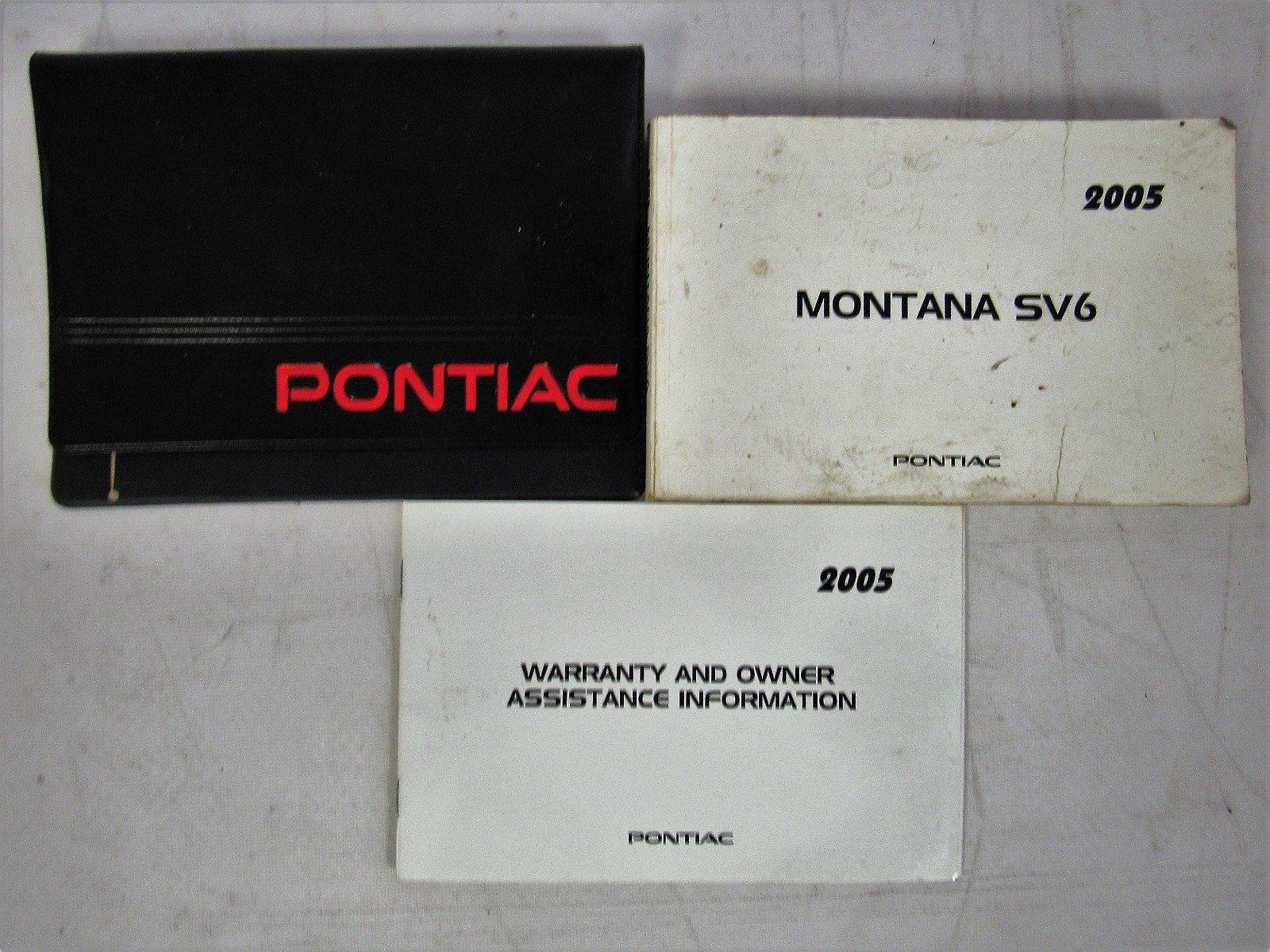 2005 pontiac montana sv6 user manual