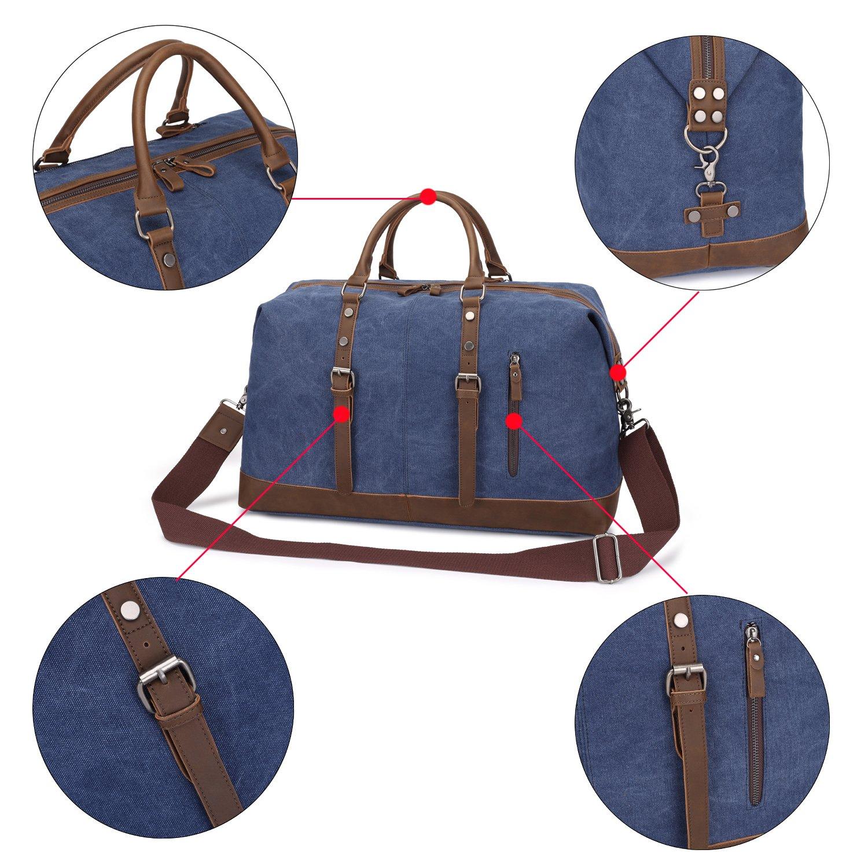Weekend Bag Weekender Overnight Bag Canvas Vintage Travel Duffle for Men Women by UPANDFAST (Image #6)