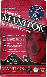 Annamaet Grain-Free Manitok Red Meat Formula Dry Dog Food, (Fresh Lamb)
