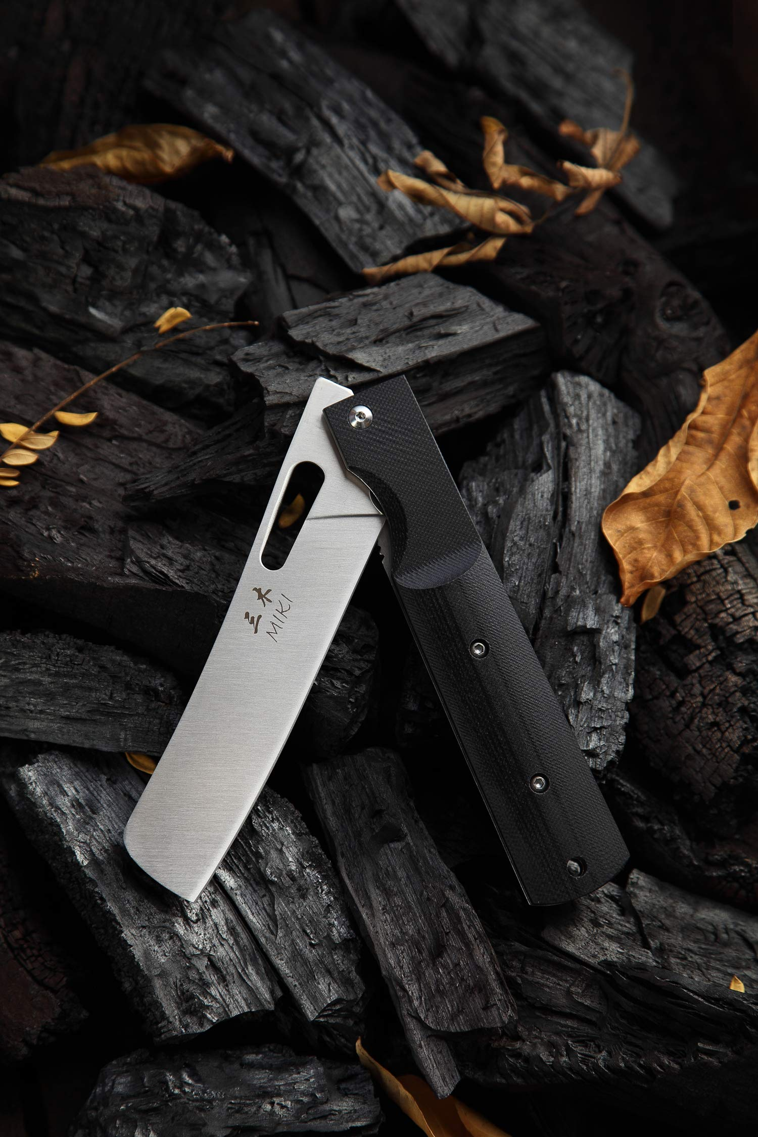 Risuning 440A Stainless Steel Blade Japanese Kitchen Chef Folding Pocket Knife for Outdoor Camping Cooking by Risuning (Image #4)
