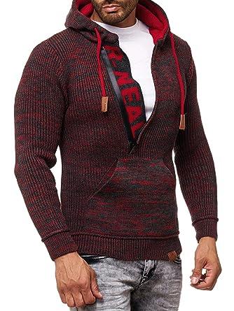 Rusty Neal Herren Strick-Pullover Strickjacke mit Kapuze Gr. S bis 4XL RN- 13277  Amazon.de  Bekleidung 83a04420e6