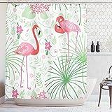 Ambesonne Nautical Floral Flamingo