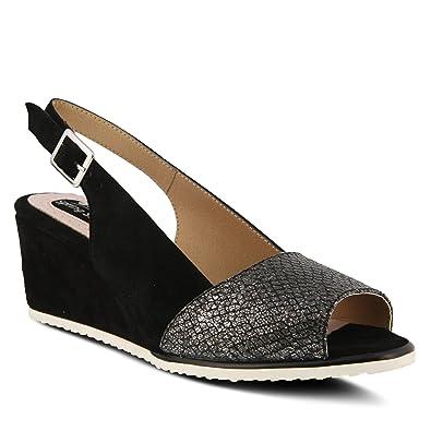 Spring Step Evia Women's Wedge ... Slingback Sandals 6rhTAW