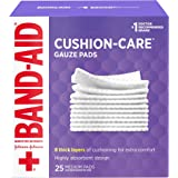 Band-Aid Brand Cushion Care Sterile Gauze Pads for Protection of Minor Cut, Scrapes & Burns, Non-Adhesive & Wound Care Dressing Pads, Medium Size, 3 inches x 3 inches, 25 ct