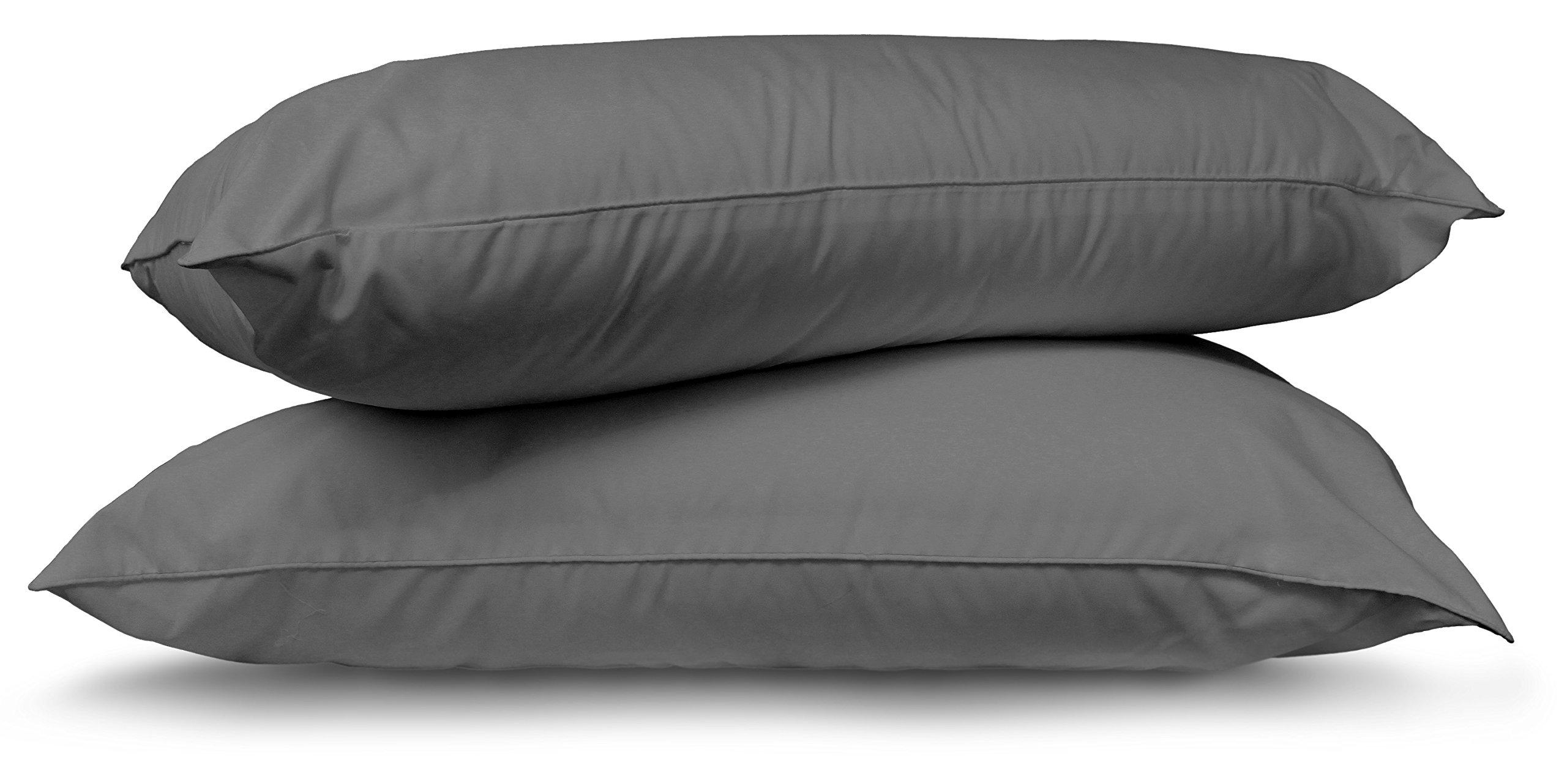 Utopia Bedding Premium Cotton Zippered Pillow Cases - 2 Pack (Queen, Grey) - Elegant Double Hemmed Stitched Pillow Encasement by Utopia Bedding (Image #7)
