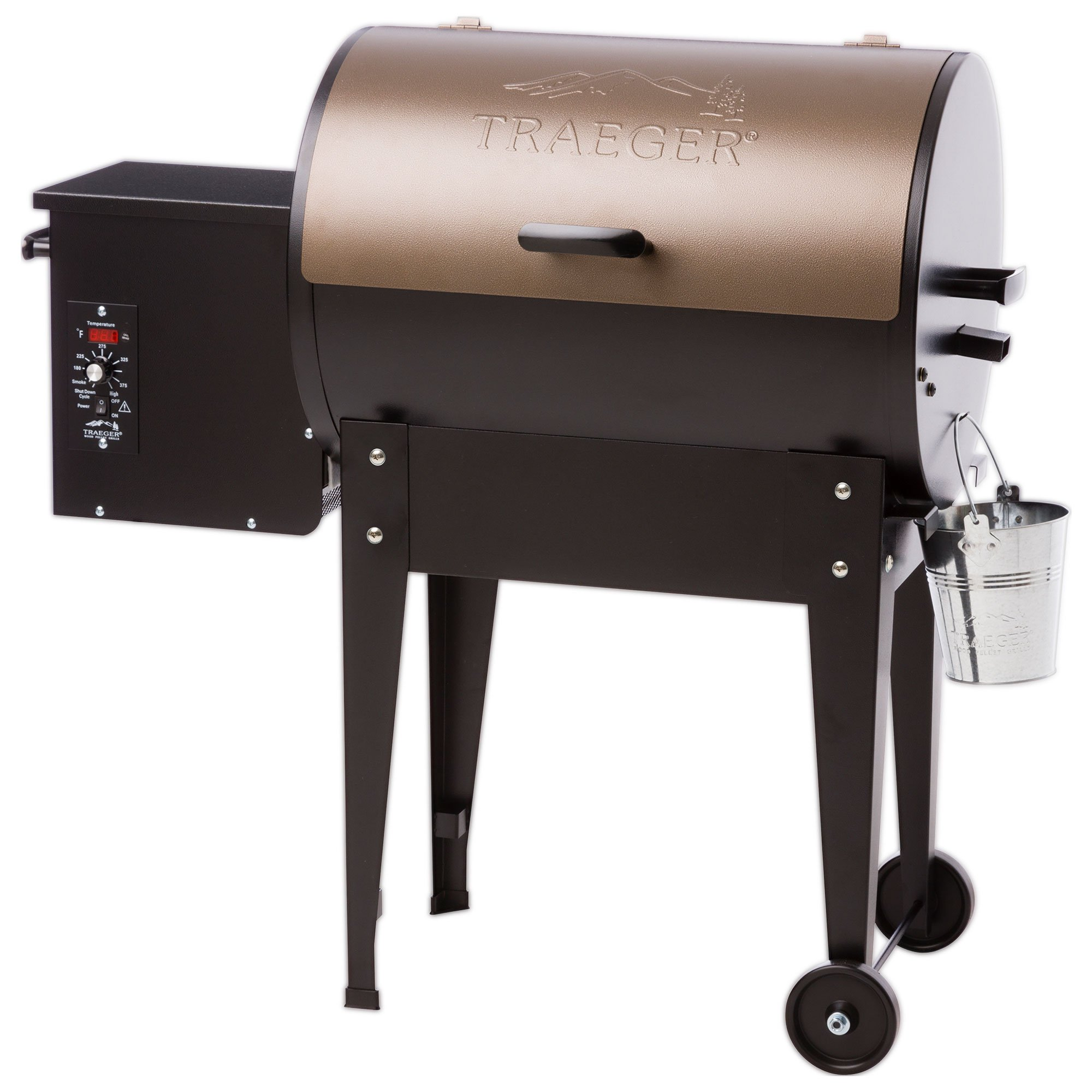 Traeger Grills Junior Elite Wood Pellet Grill and Smoker - Grill, Smoke, Bake, Roast, Braise, and BBQ (Bronze) by Traeger