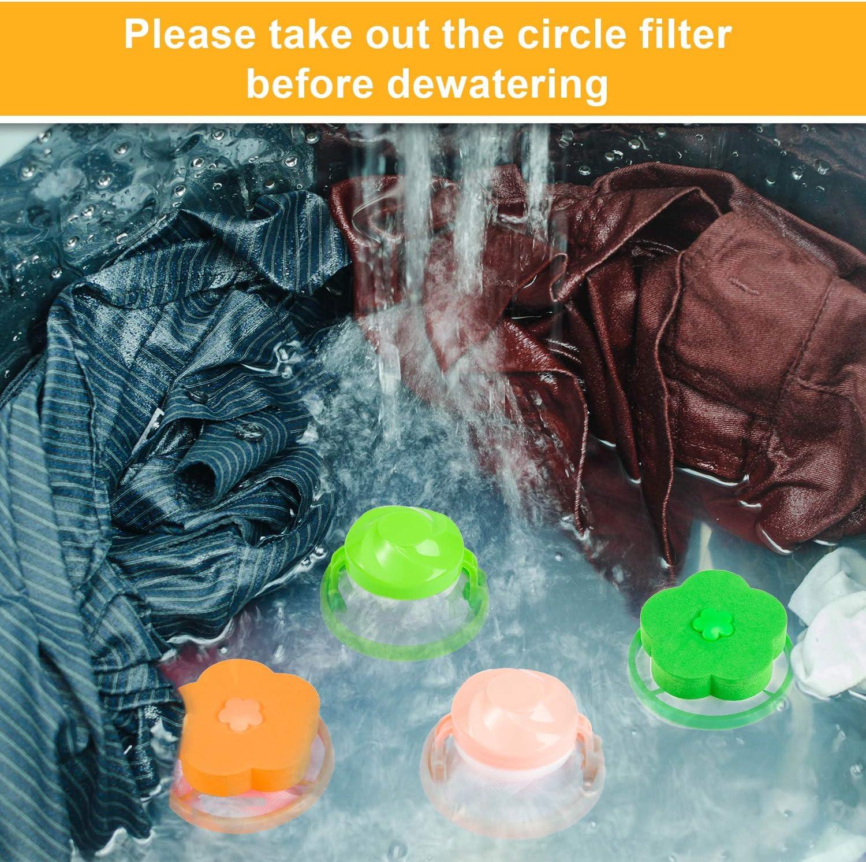 Haushaltsreiniger Whaline 8 St/ück Waschmaschinen-Fussel-Netzbeutel schwimmender Fussel-Filterbeutel Netzbeutel Fusself/änger Haarfusself/änger wiederverwendbarer Tierhaarentferner