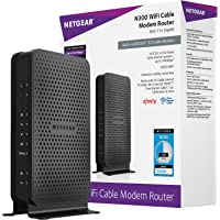 NETGEAR C3000-100NAS N300 (8x4) WiFi DOCSIS 3.0 Cable Modem Router (C3000) Certified for Xfinity from Comcast, Spectrum…
