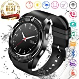 XIAOGAJI Smart Watch,Bluetooth Smartwatch Touch Screen Wrist Watch with Camera/SIM Card Slot