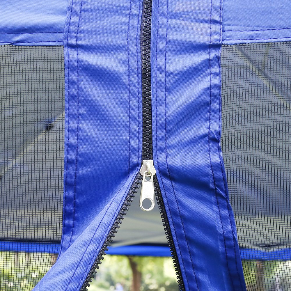 VIVOHOME Outdoor Easy Pop Up Canopy Screen Party Tent with Mesh Side Walls Blue 10 x 10 ft by VIVOHOME (Image #3)