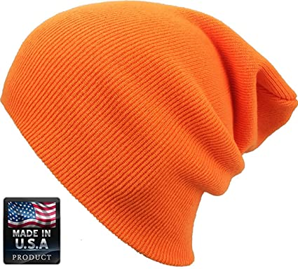 a6c11510e2d227 Image Unavailable. Image not available for. Color: JSL Cuff Beanie Plain  Knit Hat Winter Warm Cap Slouchy Skull Ski Hats Men Women Warm