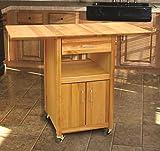 Catskill Craftsmen Drop Leaf Kitchen Cabinet Cart