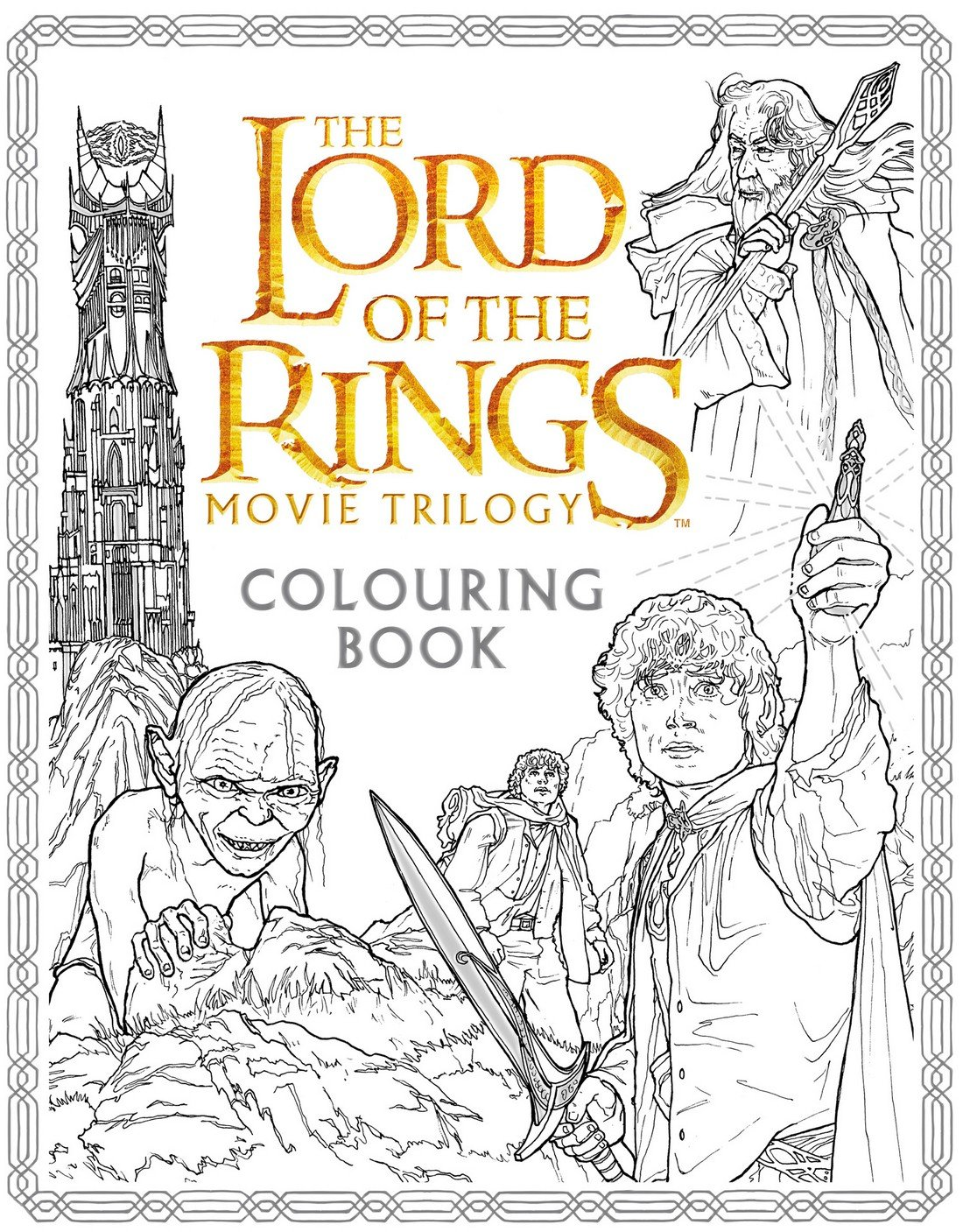 the lord of the rings movie trilogy colouring book amazon co uk