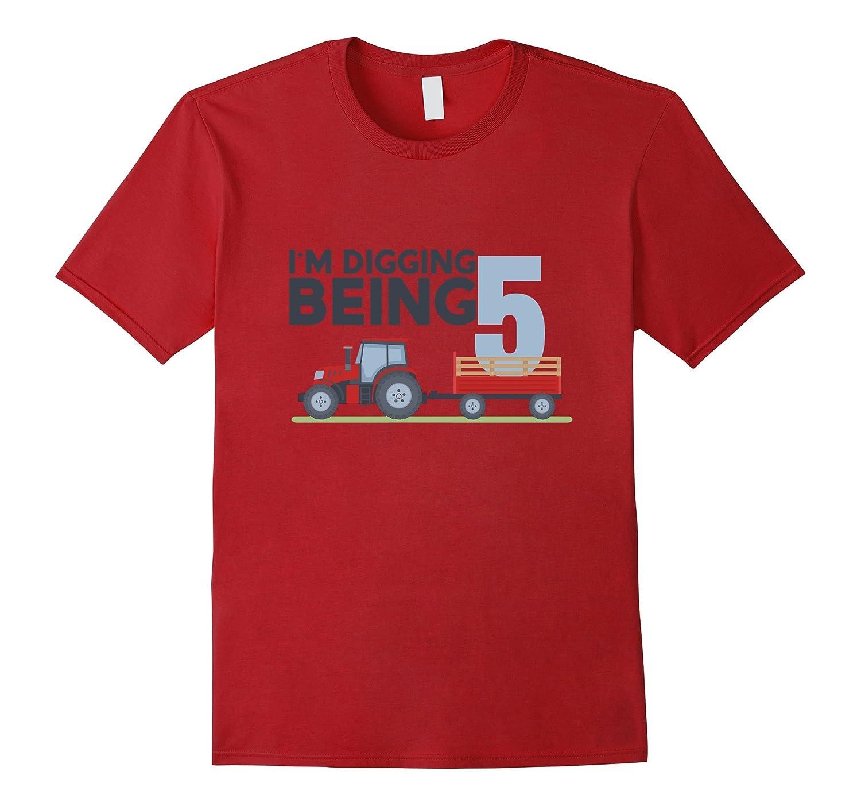 5th Birthday Tshirt Age 5 Year Old Tractor Boy Girl Shirt FL