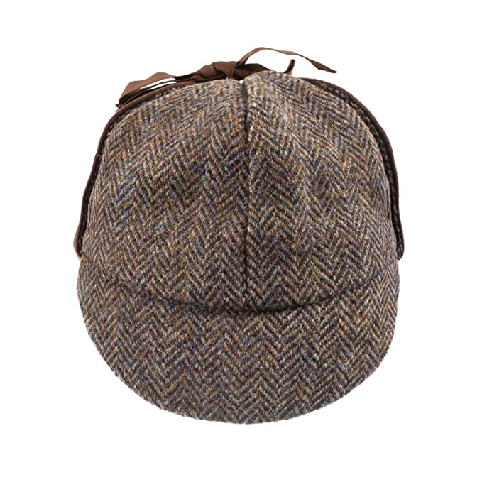 ce3b417610b GLEN APPIN Men s Classic Harris Tweed Deerstalker Hat Brown (L ...