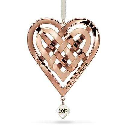 Hallmark Keepsake 2017 Our First Christmas Heart Metal Dated Christmas  Ornament - Amazon.com: Hallmark Keepsake 2017 Our First Christmas Heart Metal