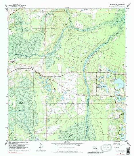 Amazon.com : YellowMaps Sanford Sw FL topo map, 1:24000 ...