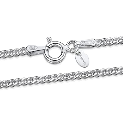 b73722b2ea7b9b 925 Sterling Silver 2 mm Curb Chain Necklace Size: 16 18 20 22 24 28 ...